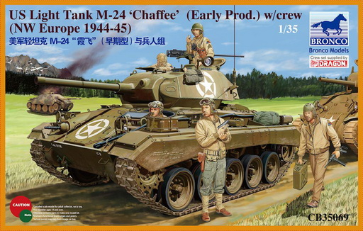M24 Chaffee early variant with crew 1/35 Bronco model
