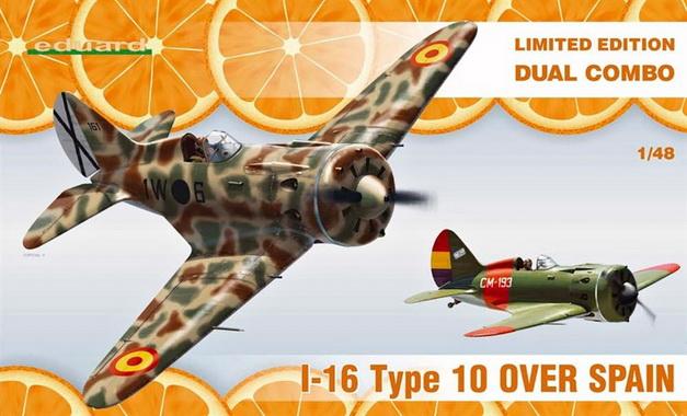 I-16 Type 10 over Spain DUAL COMBO (Limited Ed.) 1/48 Eduard