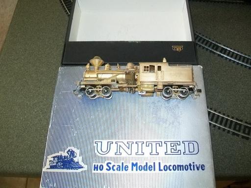 หัวรถจักรทองเหลือง Heisler Geared Locomotive HO Scale United/PFM
