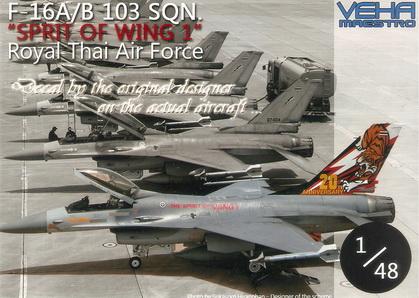 F-16A/B 103 Sqn. SPIRIT OF WING 1 RTAF (20th Anniversary) 1/48 Decal