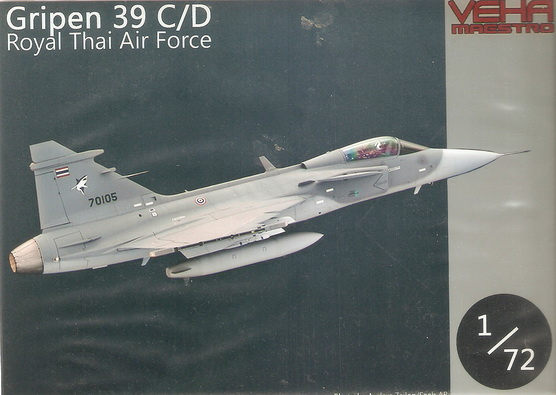 Gripen JAS-39 C/D Royal Thai Airforce 1/72 Decal