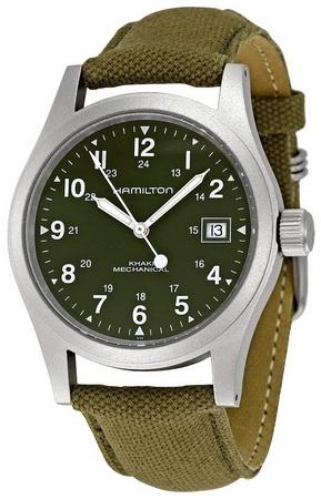 นาฬิกาทหารย้อนยุคไขลาน Hamilton Khaki Field Mechanical H69419363