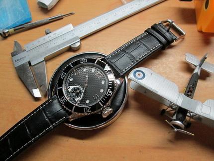 นาฬิกา PilotSub Watch Poorman Chornometer Unitas 6498 Only one Edition