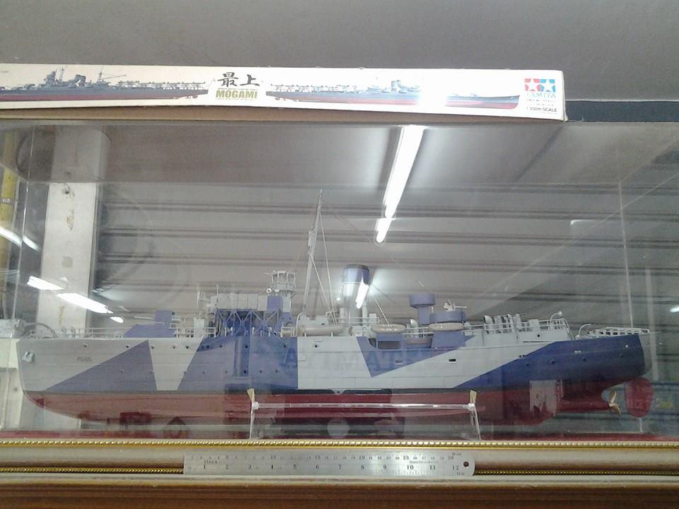 โมเดลเพร้อมตั้งโชว์ USS Saucy 1/72