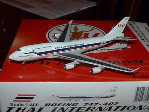 BOEING 747-4D7 THAI INTERNATIONAL 50th Anniversary HS-TGP 1/400 JC wings