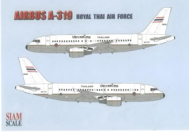 Airbus A319 Thailand 1/144 Decal