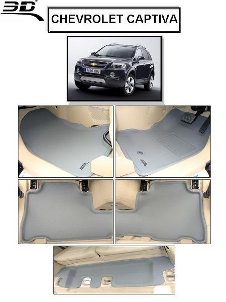 ถาดพรมปูพื้นรถยนต์เข้ารูป Chevrolet CAPTIVA