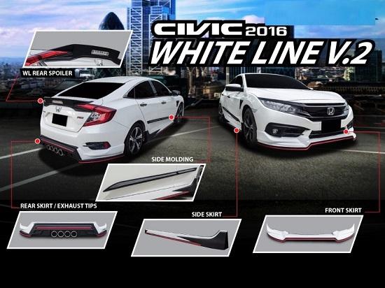 ชุดแต่งรอบคัน ซีวิค CIVIC FC 2016 2017 RED LINE II STYLE