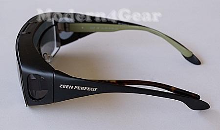 แว่นกันแดดแบบสวมทับ Fit Over-Flip Up Glasses 7003 Green 1