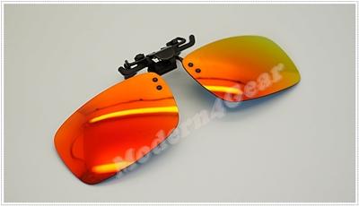Polarized Clip On แบบฉาบปรอทสีส้ม