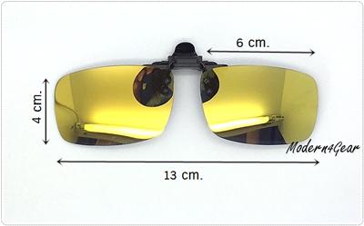 Polarized Clip On แบบฉาบปรอทสีเหลือง