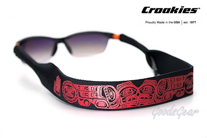 สายคล้องแว่น Croakies XL รุ่น N-Grained Prints Raven Moon Sun