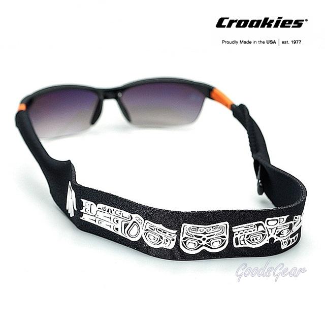 สายคล้องแว่น Croakies XL รุ่น N-Grained Prints Killer Whale Eagle