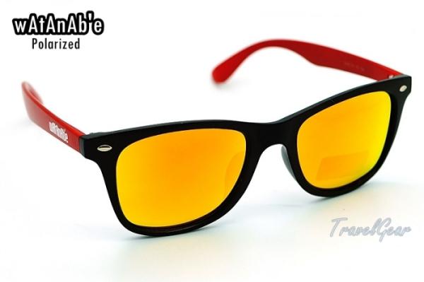 แว่นกันแดด WaTaNaBe เลนส์ Polarized Revo เคลือบปรอทส้ม 2208RO