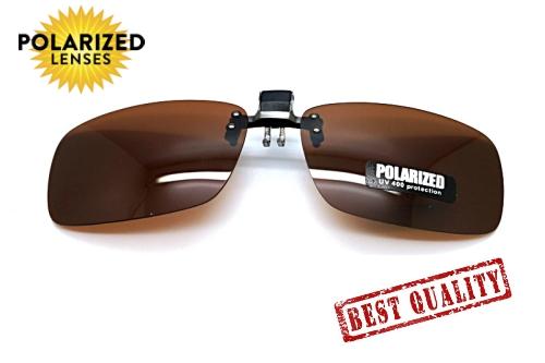 Polarized Clip on เลนส์สีชา แบบเปิด-ปิด