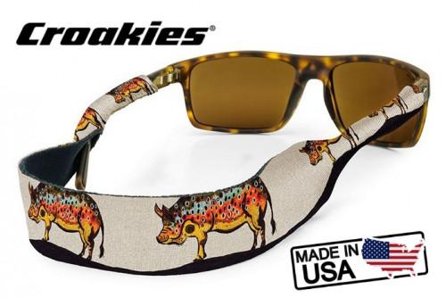 สายคล้องแว่นตา Croakies XL Print รุ่น Sub Abby Paffrath Hog Brown