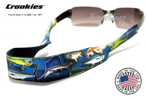 สายคล้องแว่นตา Croakies XL Print รุ่น Offshore Blue