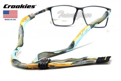 สายคล้องแว่นตา Croakies รุ่น Poly Suiter XL Striped Bass