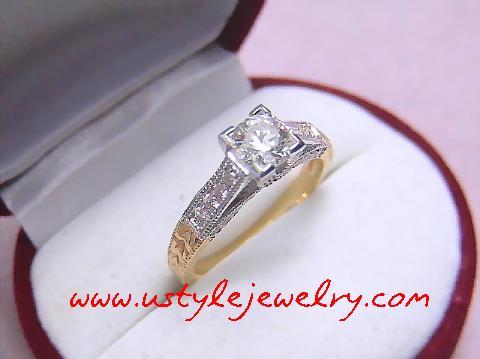 แหวนเพชรขนาด70ตังน้ำ95%เหลี่ยมสวยไฟดี