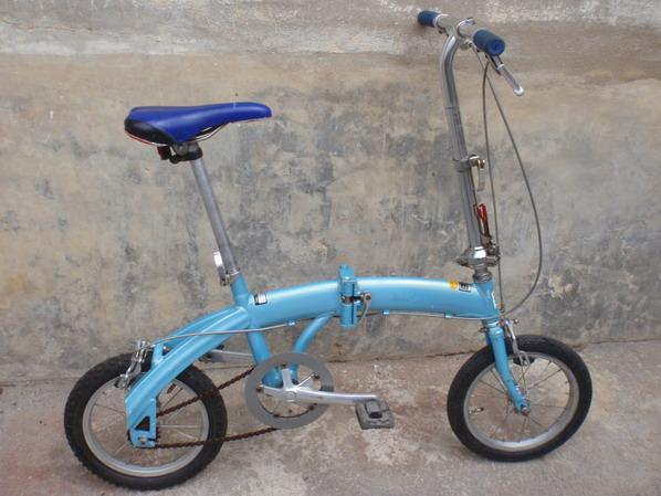 จักรยานจิ่ว วงล้อ14 เฟรมอลูสีฟ้า ทรงโค้งสวย