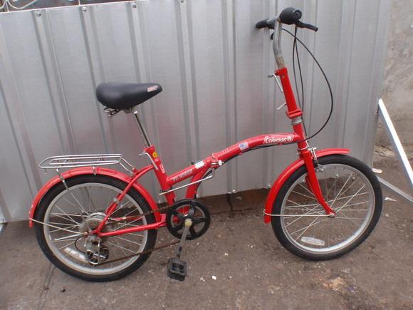 จักรยานพับ coleman วงล้อ 20 เฟรมโค้ง สีแดง สวยแปลก