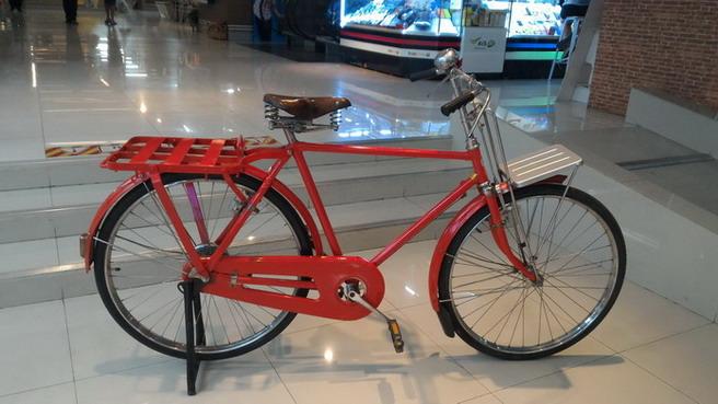 จักรยาน ไปรษณีย์ ทรงผู้ชาย ผู้หญิง สภาพ สวย สมบูรณ์ มีกระดิ่ง กุญแจ พร้อมใช้ มือสอง ญี่ปุ่น