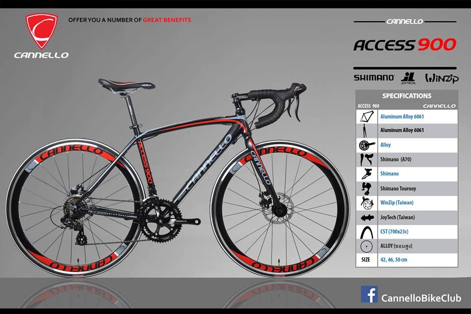 จักรยานเสือหมอบทรงสวย CANNELLO Access900  มือตบ