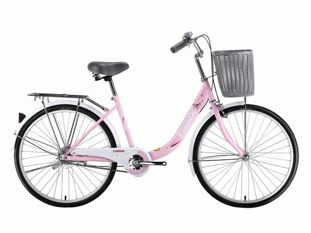 จักรยานแม่บ้าน TRINX CUTE1.0  ล้อ 24 นิ้ว เฟรมเหล็ก