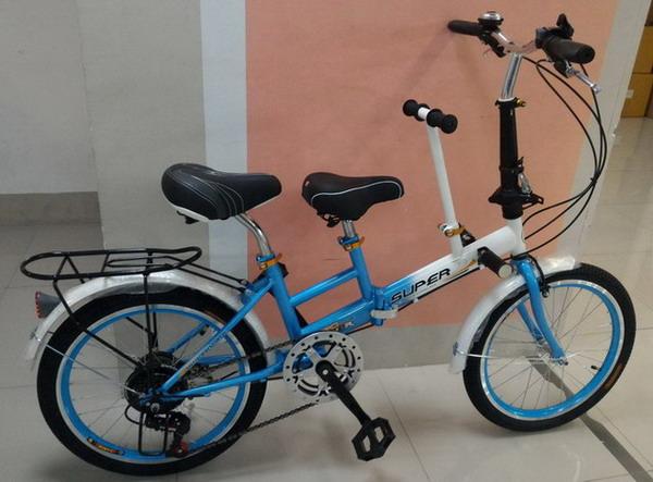 จักรยาน ครอบครัว 2 อานแม่และเด็ก พับได้ SUPER