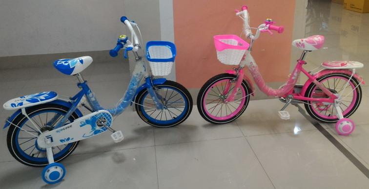 จักรยานเด็ก มีล้อพ่วงข้าง Ecoline รุ่น เฟรมโค้ง วงล้อ 16