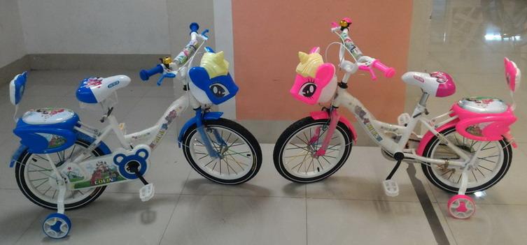 จักรยานเด็ก มีล้อพ่วงข้าง ยี่ห้อ Ecoline รุ่น ม้ายูนิคอน วงล้อ 16