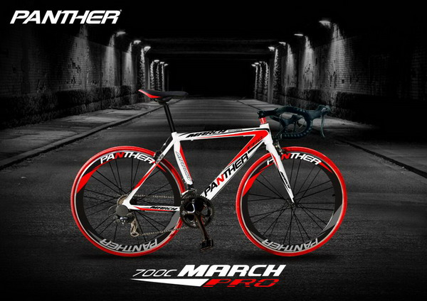 จักรยานเสือหมอบ ทรงสวย ดูดี คุณภาพดี ราคาประหยัด ยี่ห้อ PANTHER รุ่น MARCH Pro
