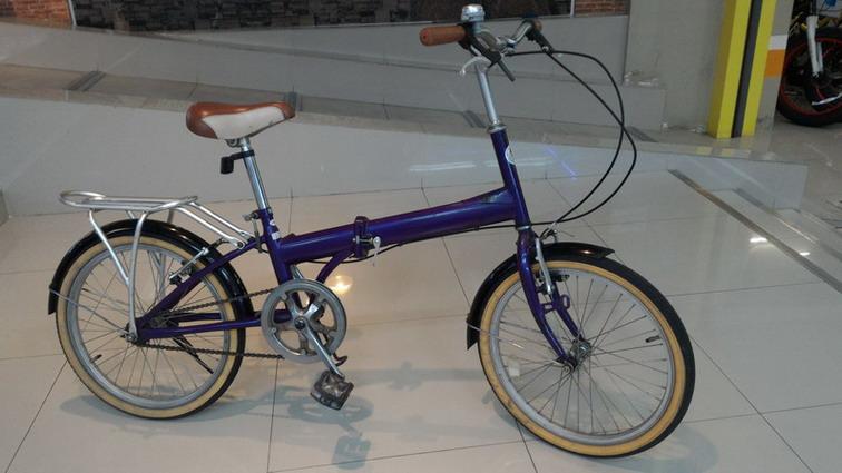 จักรยานพับ20 เฟรมเหล็ก สีม่วง