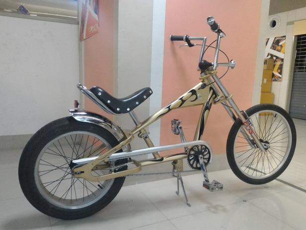 จักรยาน ทรงชอปเปอร์ เท่ห์ๆ สวย เด่น ดูดี  สภาพใหม่ มือสอง ญี่ปุ่น ยี่ห้อ LA MANCHA