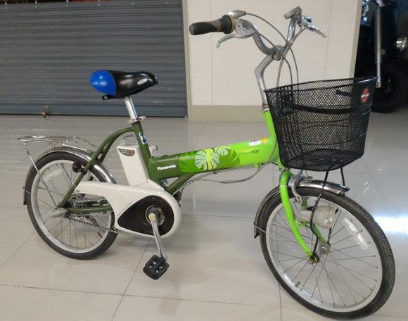 จักรยานแม่บ้านญี่ปุ่นไฟฟ้า ยี่ห้อ Panasonic เฟรมอลู วงล้อ 20