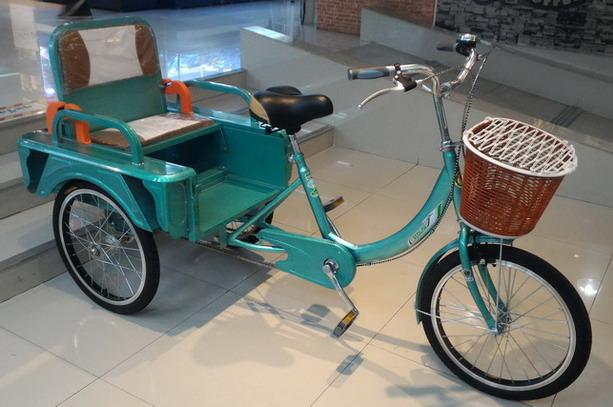 จักรยาน สามล้อ มีที่นั่งซ้อนและปรับเป็นกระบะในคันเดียว Ecoline