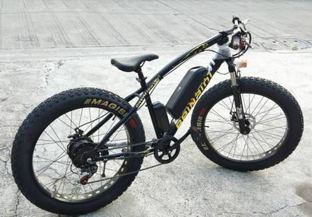 จักรยานไฟฟ้า ล้อโต 26 นี้ว 48V 12A 500W แบตลิเธี่ยม ทรงจาร์กัว