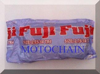 ยางในรถจักรยานยนต์ ยี่ห้อ Fuji ขนาด 2.75-14 ได้รับเครื่องหมาย มอก.