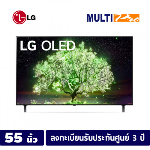 LG OLED 4K Smart TV ขนาด 55 นิ้ว รุ่น OLED55A1PTA   Self Lighting   Dolby Vision & Atmos ดำ