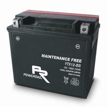 YTX12 -BS : Maintenance-free Motorcycle Battery