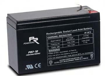 แบตเตอรี่ Poweroad : PR7.2-12 (12V 7.2Ah)