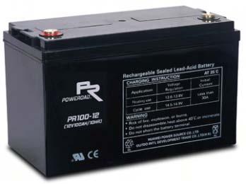 แบตเตอรี่ Poweroad : PR100-12 (12V 100Ah)
