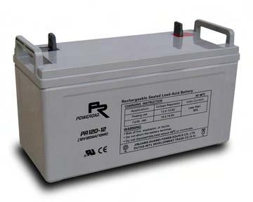 แบตเตอรี่ Poweroad : PR120-12 (12V 120Ah)