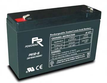 แบตเตอรี่ Poweroad : PR12-6 (6V 12.0Ah)