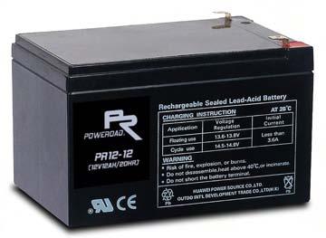 แบตเตอรี่ Poweroad : PR12-12 (12V 12Ah)