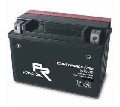 YTX9 -BS : Maintenance-free Motorcycle Battery