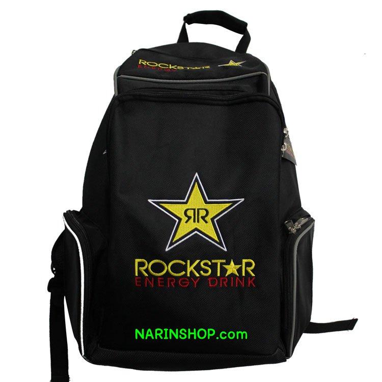 กระเป๋าเป้ สีดำ ลาย ROCK STAR
