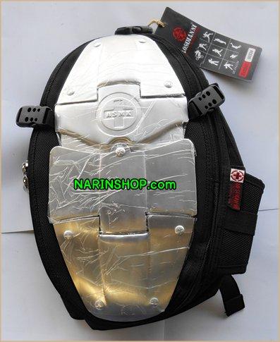 กระเป๋าเป้ สีดำ ลาย ASMN ทรงยาว
