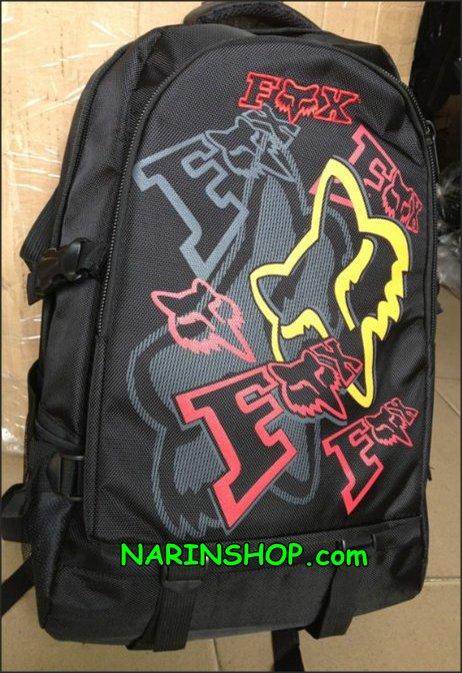 กระเป๋าเป้ สีดำ ลาย FOX