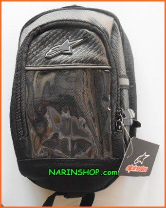 กระเป๋าเป้ สีดำ ลาย ALPINESTARS ไซค์เล็ก มีแม่เหล็กติดถังน้ำมัน